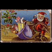 Sample Postcard of Santa on the Telephone