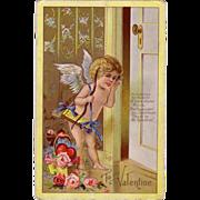 Beautiful Embossed Exceptional Valentine Postcard