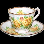 """Yellow Roses Royal Albert """" Tea Rose """" Cup & Saucer"""