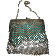 1920's German Silver Mesh Evening Bag