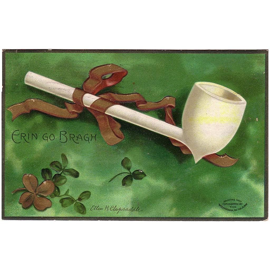 "1907 Postcard of St. Patrick's Day artist signed "" Ellen H.Clapsaddle """