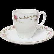 Delicate Bavarian Demitasse Cup & Saucer Set