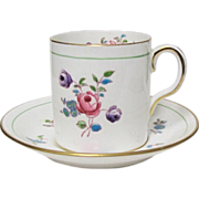 Royal Chelsea Demitasse Cup & Saucer w/ Roses