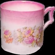 Pink & Floral Porcelain Shaving Mug