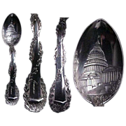 Full Figural Washington Memorial Sterling Souvenir Spoon
