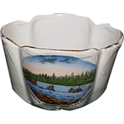 1900's German Porcelain Dish Souvenir of Willamette Falls, Oregon