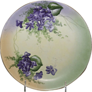Beautifully Hand Painted Bavarian Plate w/ Violets