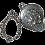 """(2) Charms for a Charm Bracelet """" Cowboy Hat & Lasso """""""