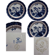 """Booths Blue & White Willow Ware 8 1/4"""" Plate"""