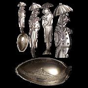 Sterling Figural Frog Spoon Souvenir of Mount Rainier