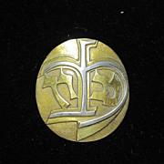Vintage Sterling Silver Jewish Hebrew Pin Brooch Pendant