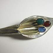 Vintage Mexican Sterling Silver Lily Flower Brooch TC-205 Mexico
