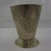 Antique Solid Silver German Augsburg Beaker Cup c. 18 Century
