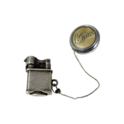 Mexican Sterling Silver Miniature Lighter Ketcham & McDougall Retractable Chain