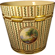 Antique German Porcelain Large Cachepot by Carl Thieme Dresden Germany 1900s