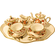 Antique Early 1900s Miniature Doll Teaset Tea Set by Crown Staffordshire England