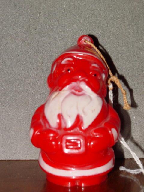 Hard Plastic Santa Christmas Ornament
