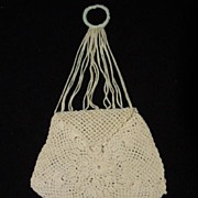 Tiny Crocheted Chatelaine Bag from late 1800's - Early 1900's