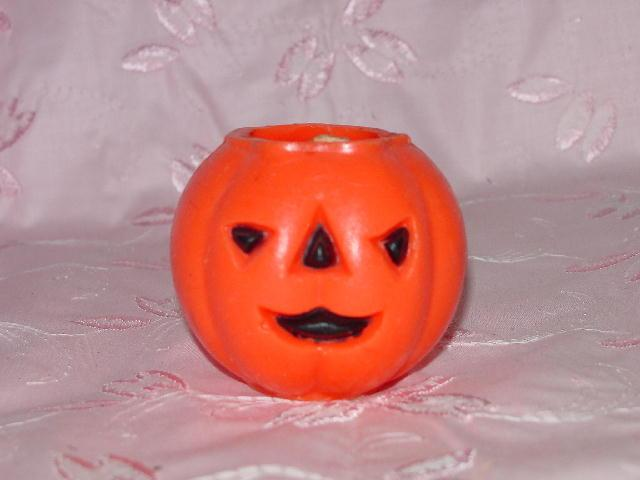 Vintage Halloween Jack O Lantern Candle Decoration - Small