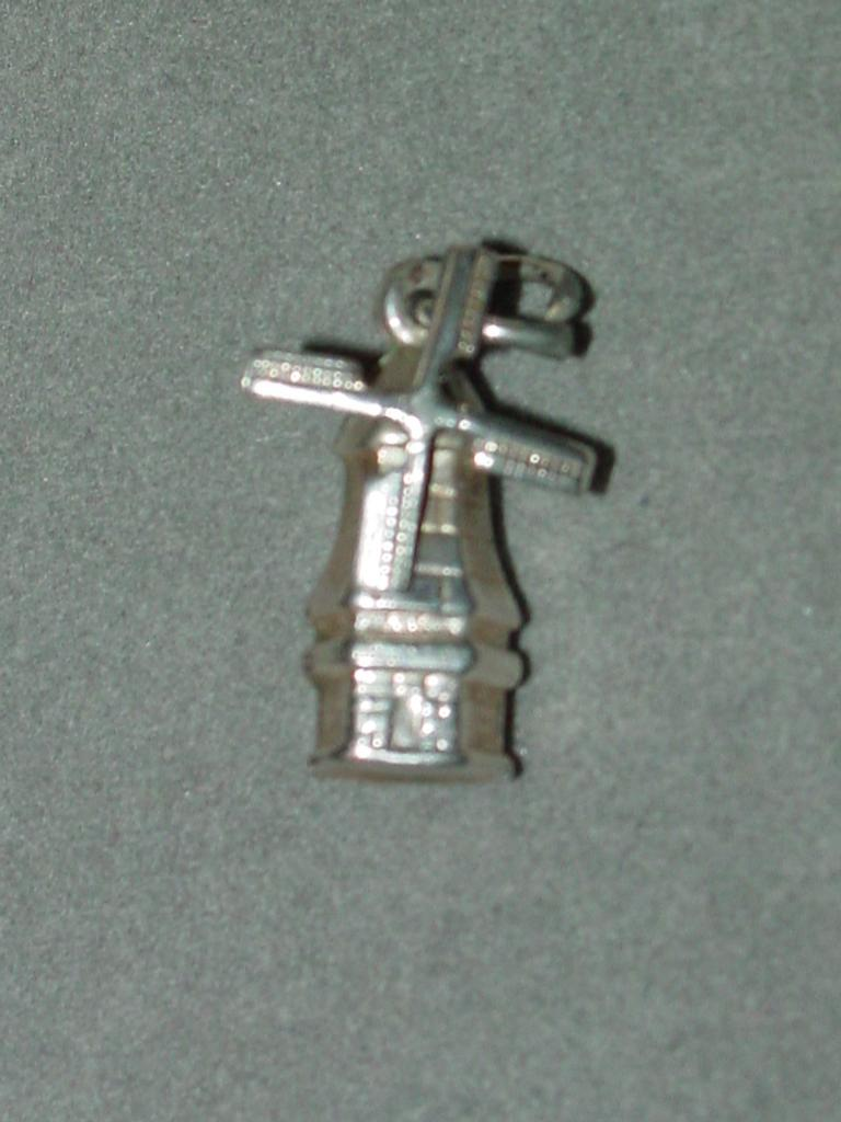 Vintage Mechanical Silver Windmill Charm