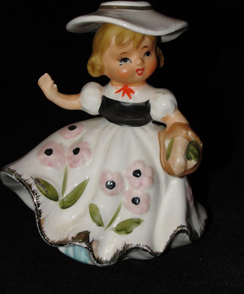 Vintage Southern Belle Ceramic Figurine