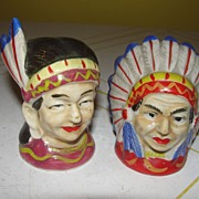 American Indian Salt and Pepper Shakers - b28