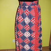 Three Cheers for the Red, White and Blue Granny Square Maxi Skirt
