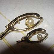 Big and Small Wishbone Scatter pins - Free Shipping