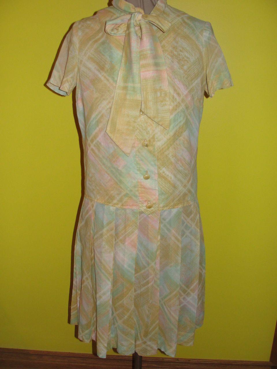 Rainbow Sherbert Drop Waist Dress