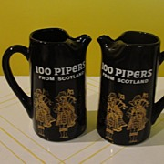 100 Pipers scotch whisky Jug - b26