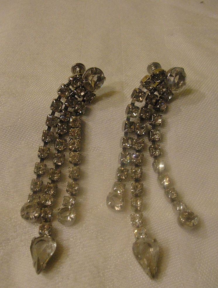Extra Flashy, Extra Long Dangle Screw-back Earrings - Free shipping