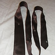 Skinny Brown Tie  Free Shipping