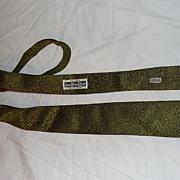 Golden All Silk Skinny tie - Free Shipping