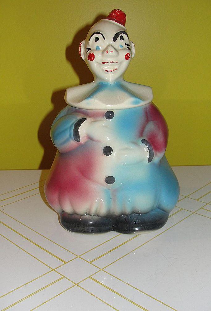 American Bisque Clown Cookie Jar