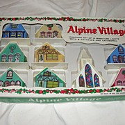 9 Piece Alpine Village In Box - b41