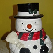 OGGI Snowman with Broom Cookie Jar