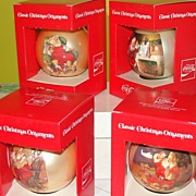 Coke Santa Christmas tree ornaments in Box #2 - b41