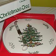 Spode ''Christmas tree'' Cheese Set - b33