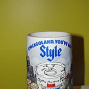 Chicagoland ''You've got Style'' Old Style 1981 Ceramarte Stein - b42