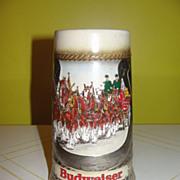 Budweiser W. German 1986 Horseshoe Stein - b42