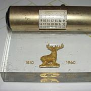 Hartford Insurance 150th Anniversary Acrylic Perpetual Calender - b43