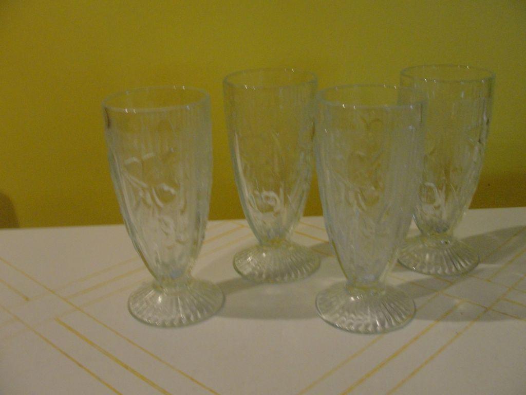 Iris and Herringbone Iced Tea Glasses - b35