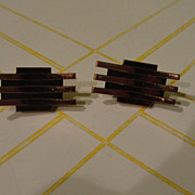 Renoir ''Lines'' Copper Clip-on Earrings - free shipping