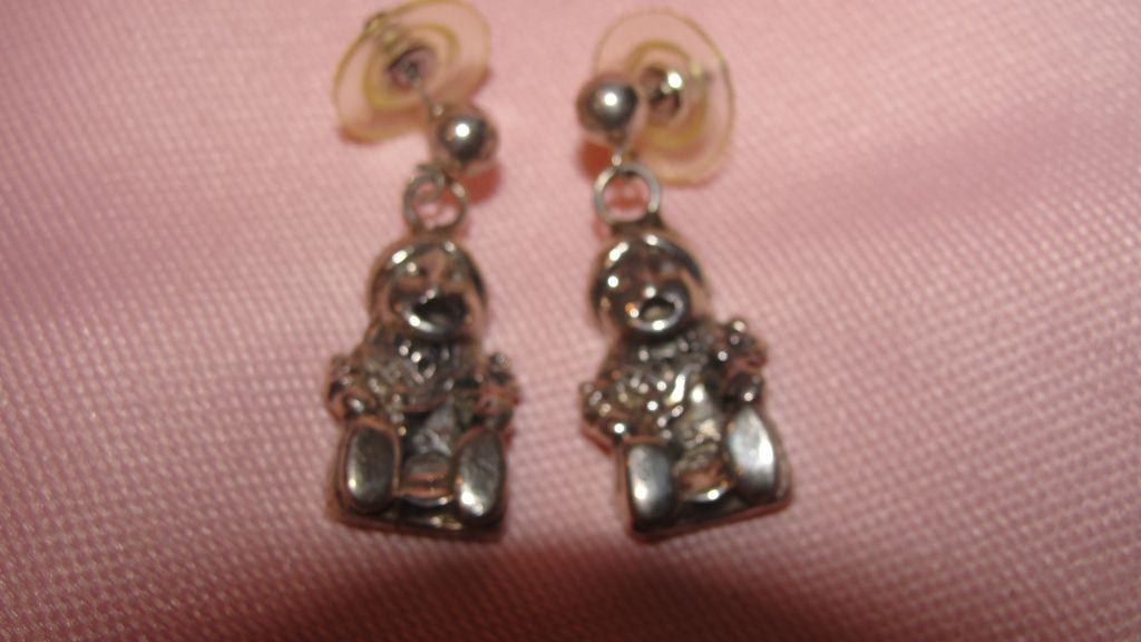 Funny Little Fellows Silver Pierced Ear earrings - Free shipping