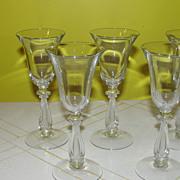 Cambridge Glass Regency Wine Glass Harp Stem #3575 - b51