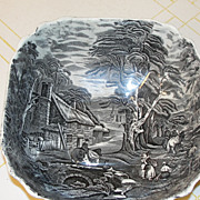 Old Foley James Kent Staffordshire Transferware Bowl