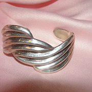 Waves of Silver Mexican Bracelet - Free shipping