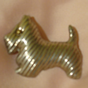 Too Cute Scottie Dog Silver Pin/pendant - Free shipping