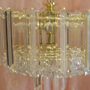Acrylic and Glass Tiered 6 Light Fixture