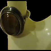 Tiger Eye in Silver Ring - Free shipping